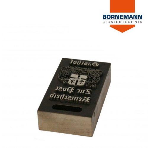 Blockartiges Druckklischee oder Papierprägewerkzeug aus Messing für die Druckveredelung