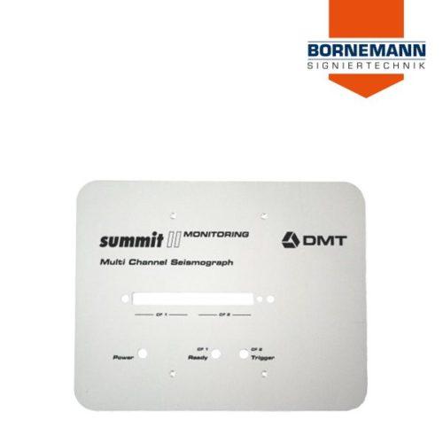 Helle Aluminium Frontblende / Frontplatte von vorne