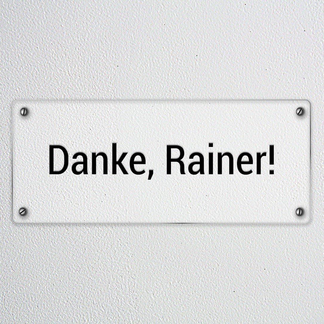 Danke, lieber Rainer! Abschied von einem besonderen Kollegen