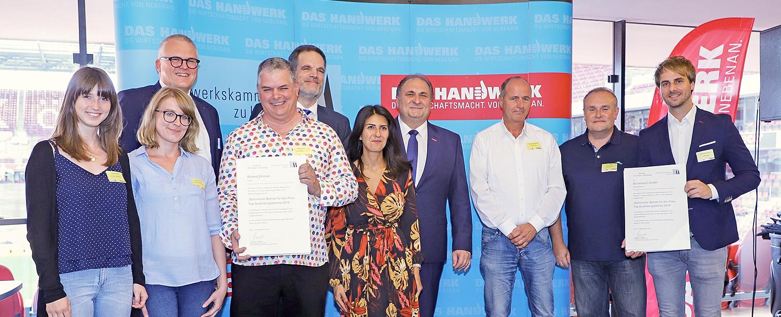 Bornemann Ausbilder erhalten bei der IHK einen Preis