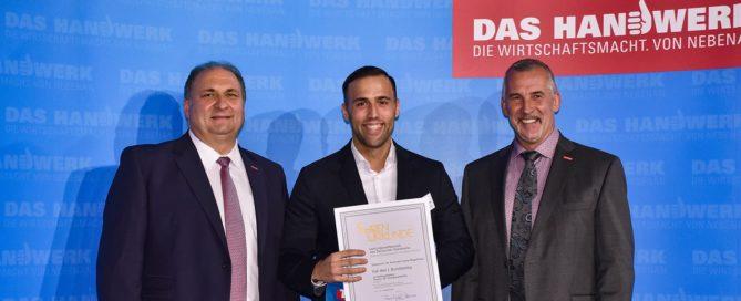 Sebastian Magalhaes von der Bornemann GmbH ist Bundessieger! Quelle: ZDHBildschön
